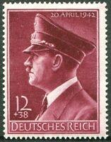 Deutsches Reich DR Nr. 813 ** sauber postfrisch 1942 WW II 53. Geburtstag MNH