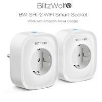 BlitzWolf 220V 16A WIFI DIY Smart Plug Socket Power Support Amazon Alexa