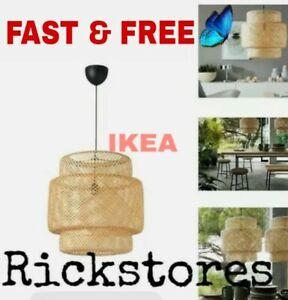 Ikea SINNERLIG Pendant Lamp Bamboo 🔝 + BULB  🔝 FAST & FREE 2 - 3 DAYS