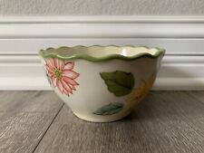 Longaberger Sunflower Salad Bowl Pottery Hand Painted Stoneware