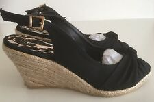 Ladies Shoes Black Wedge Shoe Brand New Size 3 FREE DELIVERY