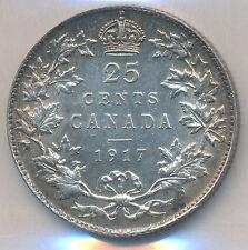 Canada 25 Cents 1917 - ICCS AU-55