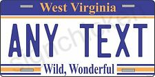 WEST VIRGINIA LICENSE PLATE / customized with your text, license plates, state,