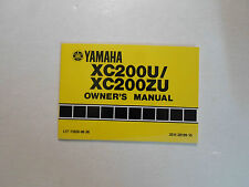 1988 Yamaha XC200U XC200ZU Owners Manual FACTORY OEM BOOK 88 DEALERSHIP