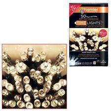 Premier 50 Christmas Battery Timer LED Lights - Indoor or Outdoor - 4 Colours