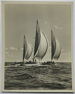 Original MORRIS ROSENFELD New York Yacht Club Sailing SAILBOATS Group Photograph