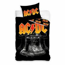 OFFICIAL AC/DC HELLS BELLS SINGLE DUVET COVER & EUROPEAN PILLOWCASE
