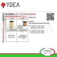 Kit Filtrazione Smart City Coupè City Cabrio Fortwo 450 600 97>04 - Ydea K126SM