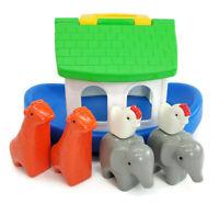 Little Tikes Vintage 1991 Noah's Ark Toddle Tots Boat Playset w/ Animal Figures