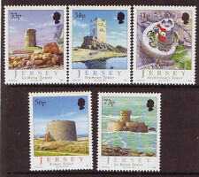 JERSEY 2005 COASTAL TOWERS UNMOUNTED MINT, MNH