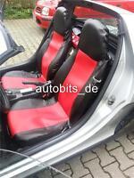 2x Sitzbezüge Schonbezüge Rot / Schwarz aus Kunstleder Hochwertig Neu OVP für