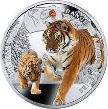 Niue 2014 1$ Siberian Tiger - Endangered Animal Species Proof Silver Coin 1/2 Oz