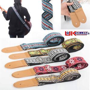 Universal Guitar Strap for Acoustic Electric Bass Adjustable Soft Webbing Belt