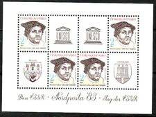 Czechoslovakia Sc 2446a NH Minisheet of 1982 - Expo - Martin Luther