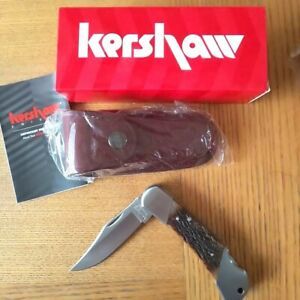 Kershaw 3140 Wildcat Ridge Lockback Folding Knife Wood or Jigged bone handles