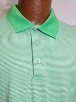 Ben Hogan XL stretch Kelly Green and White striped short sleeve polo golf shirt