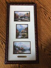 Thomas Kinkade. Mountain Vistas. Triple Prints -