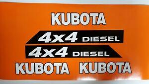 Kubota 4x4 RTV 500  Utility Vehicles Replacement Decals  white & black