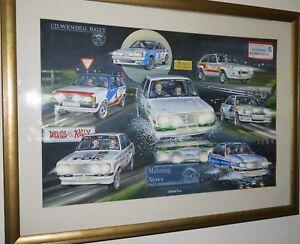 Motoring News Road Rally Compilation Rallyart Print mk2 escort ford manta