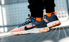 Nike React Element 87 Thunder Blue-Total Orange AQ1090-004 UK 9.5 EU 44.5 New