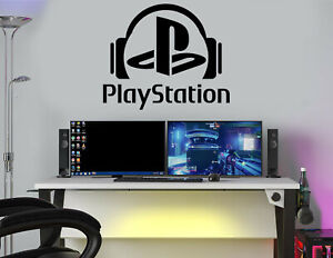 Gaming Zone Wall Stickers Decals PS Gamer Wall Art Headphone Gamer Room Sticker