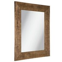 "Large 37 1/2"" Millwood Supreme Wood Wall Mirror Shabby Chic Decor"