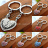 2PCS Gift Mother Daughter Love Heart Charm Crystal Key Chain Keyring Hot Family