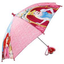 Disney Little Girls Princess Character Umbrella, Pink, One Size