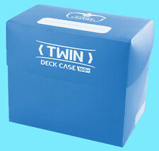 ULTIMATE GUARD TWIN DECK CASE 160+ Blue CARD STORAGE BOX 2 Dividers NEW MTG
