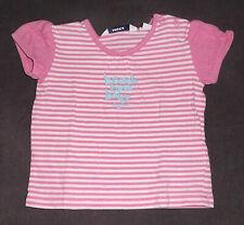 MEXX langärmliges Jungen Baby Shirt waterblue gestreift Gr 62 68