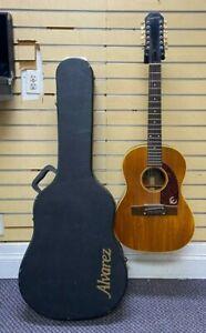 Vintage 1960's Epiphone FT85 Serenader 12 String Acoustic Guitar w/ Hard Case