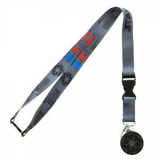 """Classic Star Wars Darth Vader Costume Design and Imperial Logo 18"""" Lanyard, NEW"""