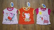 Peppa Pig pink orange 3x t-shirt top for girl age 1-2 years 12- 24 months bundle