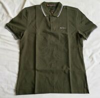 Ben Sherman Men's Olive Green Polo Shirt Size M Medium New With Tags