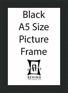 Handmade Black Wooden Picture Frame with Back Stand - A5 Size by Behind The G...