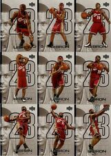 2005-06 ROOKIE OF THE YEAR LEBRON JAMES INSERT SET 1-45 CARDS!  RARE