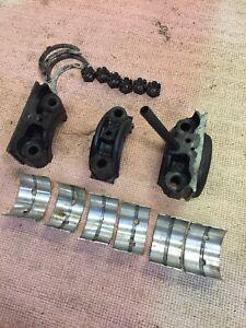 austin healey 100 4 Main Bearing Caps,nuts,std. Bearings