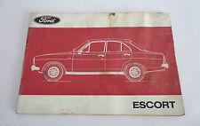 Betriebsanleitung Bedienungsanleitung Handbuch Ford Escort Mk I Stand 1973