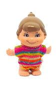 Small Shots Mattel Vintage 1970 Small Doll Rare Unique Tiny Girl Colorful dress