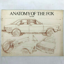 1977 Audi Fox Sales Brochure Anatomy of the Fox Staple Bound NEW