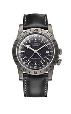 "Glycine Men's GL0246 Airman Vintage ""The Chief"" GMT Automatic 40mm Grey PVD"