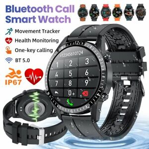 Bluetooth Smart Watch Android Heart Rate Fitness Tracker Blood Pressure Bracelet