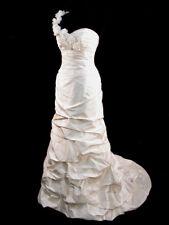 BEAUTIFUL DUPIONI SILK PALOMA BLANCA FIT & FLARE BRIDAL GOWN WEDDING DRESS 10