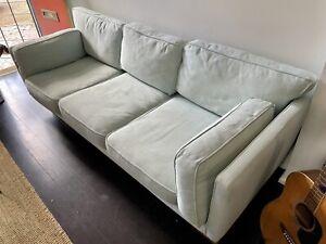 Mid century style 3 seater sofa