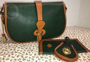 Vintage Dooney & Bourke~AWL~R50 Over/Under~Fir Green~ Crossbody/Shoulder 19035W