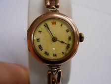 Vintage Rolex Ladies Art Deco 9k Watch 15 Jewels Automatic Free Shipping