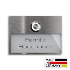 Massive Edelstahl Design Haustürklingel Klingel Türklingel LED-Taster Beleuchtet