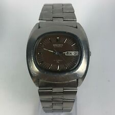 Vintage Seiko Mens 7006-5009 Automatic Stainless Steel Day/Date Watch READ!