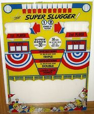 1956 United Star Super Slugger P&B Baseball Machine Reproduction Backglass
