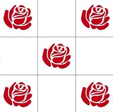 """Roses for kitchen, bathroom,wall, Tile decal Stickers 10cm x 9cm, 4 x 3.7"""" inch"""
